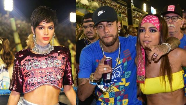Bruna Marquezine evita encontro com Neymar e Anitta na Sapucaí