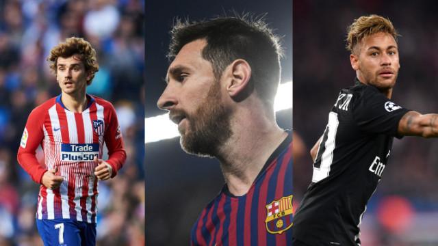 Los 100 futbolistas más caros de 2019