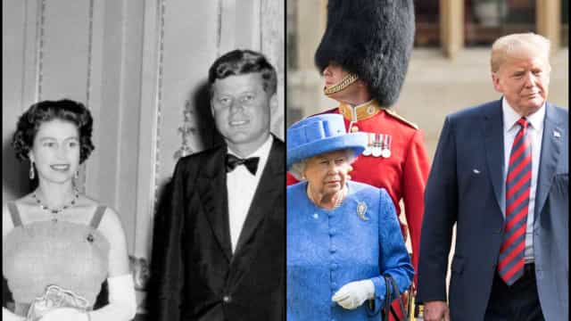 US presidents with the British royal family