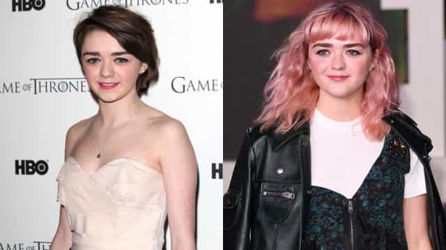 A evolução de Maisie Williams fora do ecrã