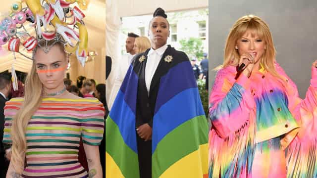 Rocking rainbow: Celebs show their Pride
