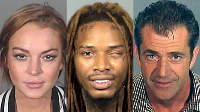 Fetty Wap and other infamous celebrity mug shots