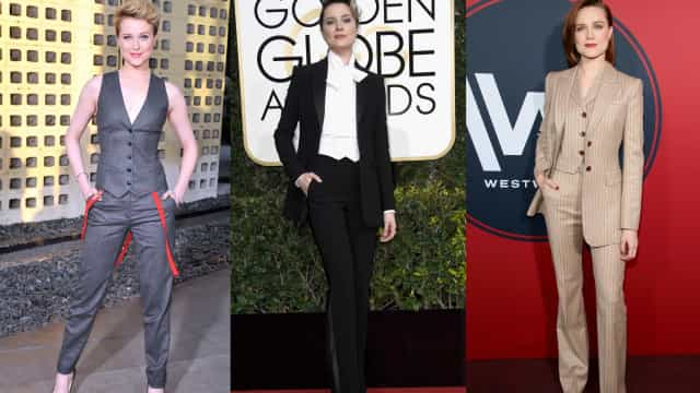 The many suits of androgyny icon Evan Rachel Wood