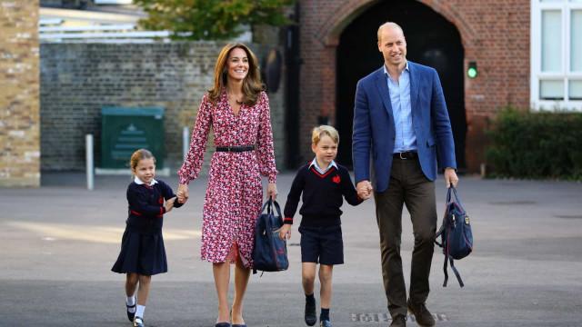 La adorable princesa Charlotte en su primer día de escuela