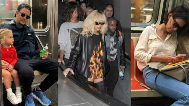 Celebrities spotted using public transport