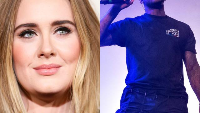 Adele och Skepta: En uppdatering av Hollywoods senaste stjärnpar.