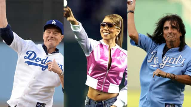 Memorable celebrity first (baseball) pitches