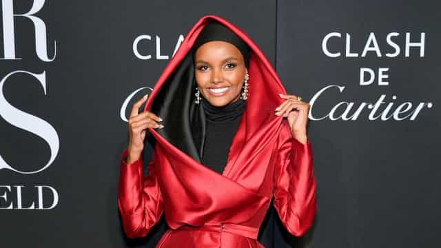 Haute Couture hijab with Halima Aden