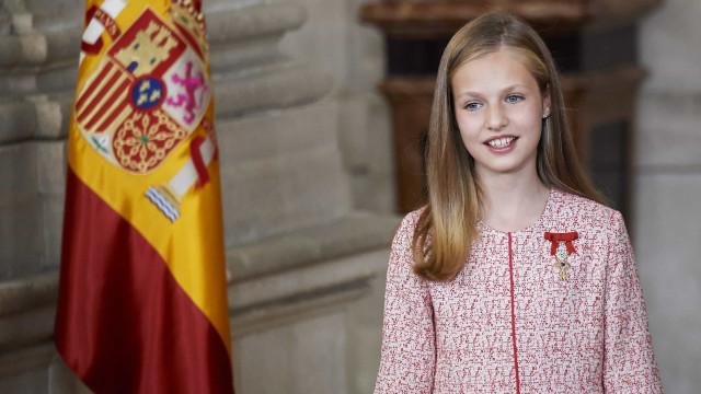 Futura rainha da Espanha celebra 14 anos