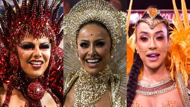 As musas e rainhas que arrasaram nas escolas de samba de São Paulo