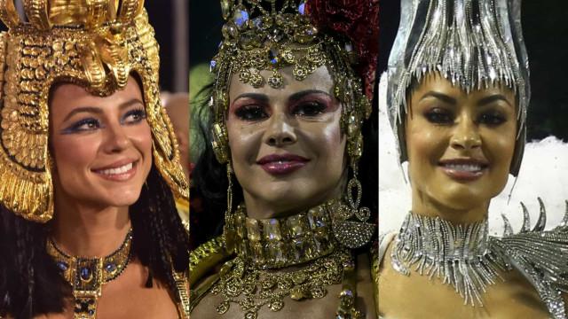As famosas que brilharam como rainhas e musas no Carnaval do Rio de Janeiro