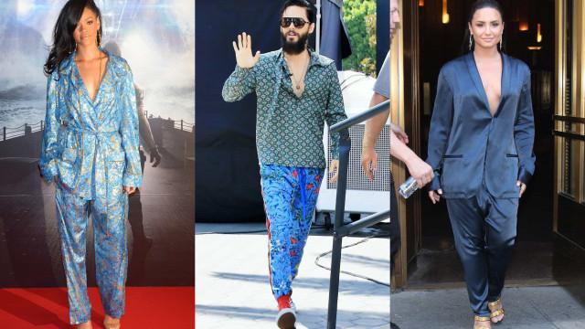 Las estrellas nos enseñan a lucir el pijama con estilo