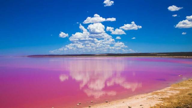 Australiens zauberhafte pinke Seen