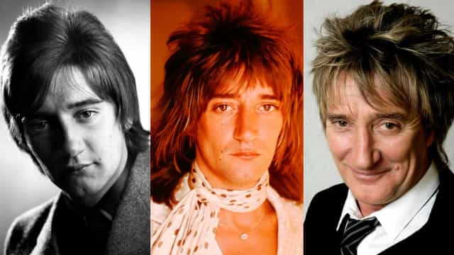 The many faces of Rod Stewart