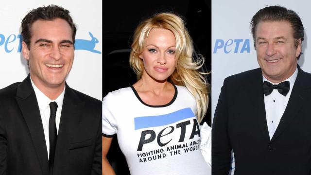 Djurälskande kändisar som kampanjar för PETA