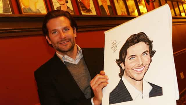 Celebrities and their caricatures