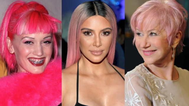 Welke beroemdheid staat roze haar het beste?