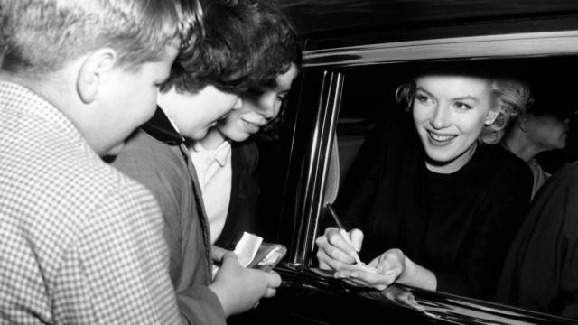 Vintage celebrity autograph signings