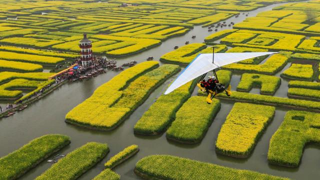 Chinas spektakuläre Stadt Xinghua im Frühling
