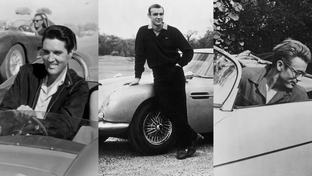 Photos vintages de célébrités et leurs voitures