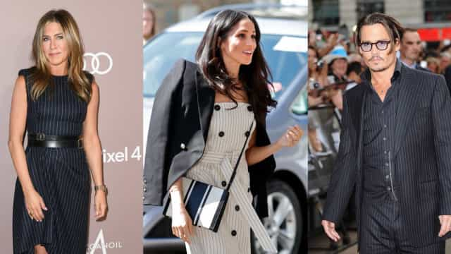 Iconic celebrity pinstripe looks