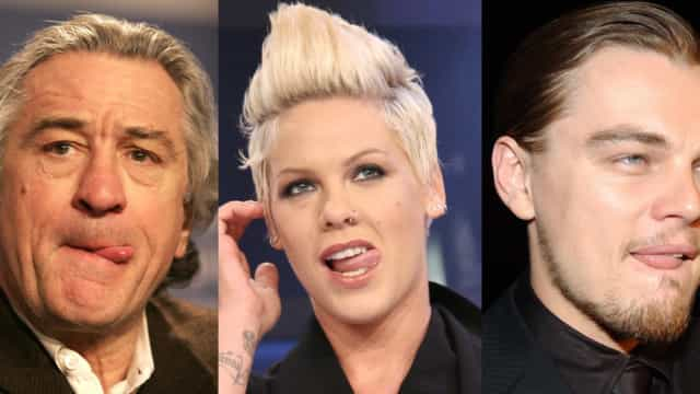 These celebs can't keep their tongues in their mouths