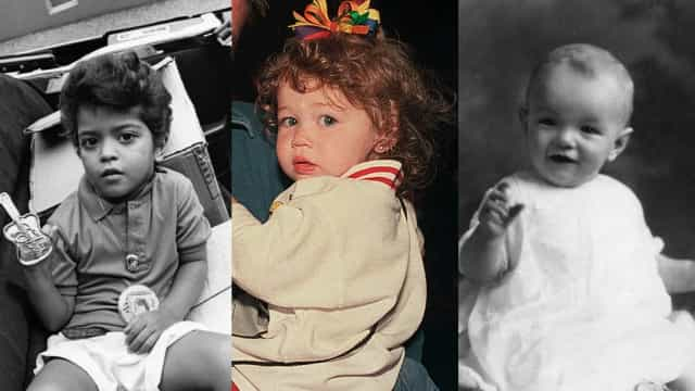 Celebrities photographed as infants and toddlers