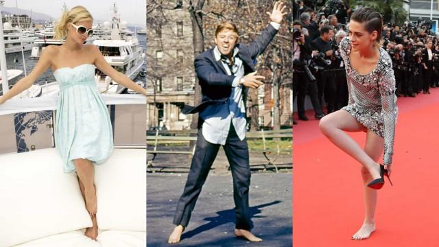 Celebrities who go barefootin'