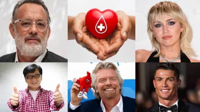 The benefits of blood donation and the celebs who support it