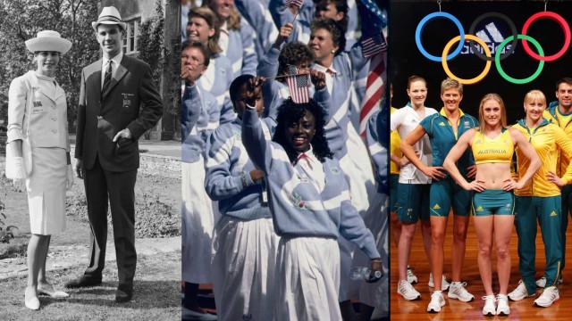 Os uniformes olímpicos ao longo dos anos