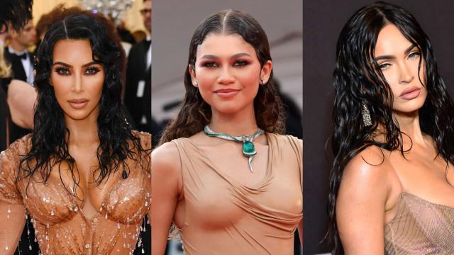 Slick celebrities rocking the wet look