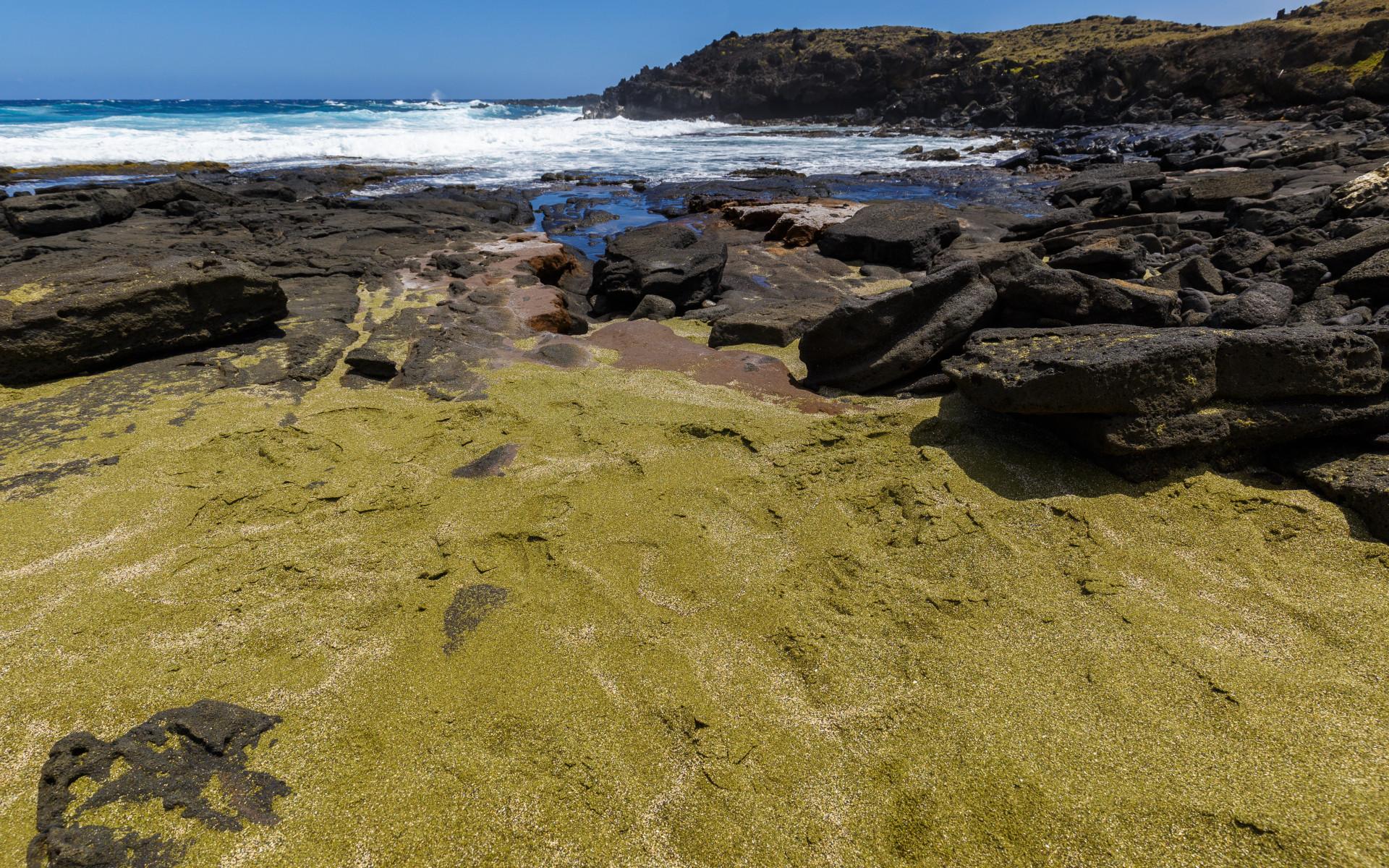 Lyserød, grøn og lilla: Se verdens mest farverige strande