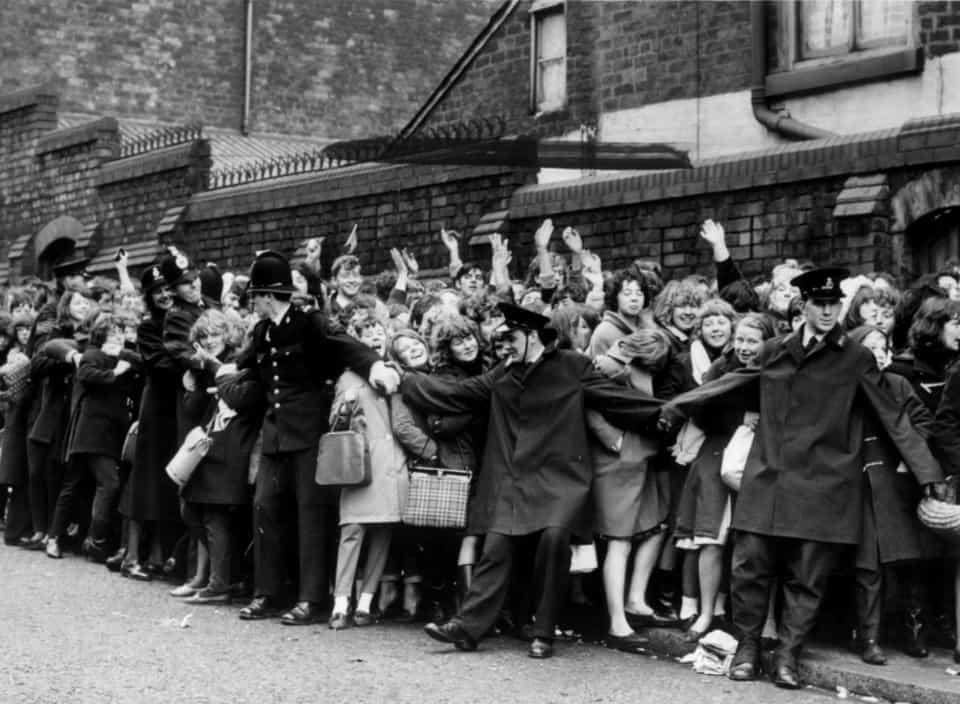 queue for the beatles tickets